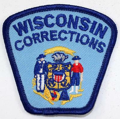 Rare Vintage Wisconsin Corrections Embroidered Cap Patch