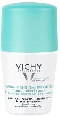 Vichy Deodorant 48Hour Intensive Anti-Perspirant Roll On 50ml Up To 48 Hours New