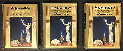 Buschan: Die Sitten Der Völker 3 Volumes 1920 - Great Condition