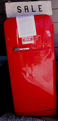 1940's Westinghouse Refrigerator, Working Condition Coca-cola Red LOWERED PRICE
