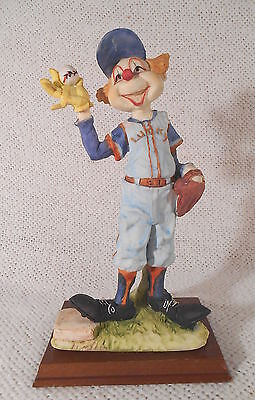 """11"""" Tall Ceramic Clown Baseball Player Pitcher Figure Figurine by PRICE PRODUCTS"""