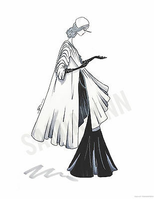 Fashion Illustration Print- Balenciaga
