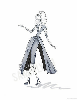 Fashion Illustration Print- Dior