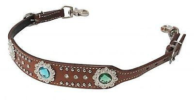 BLING Western MEDIUM Oil Leather WITHER STRAP Breast Collar Horse Tack