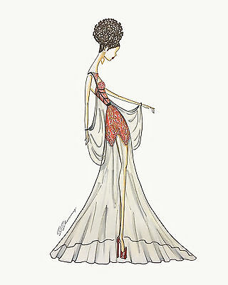 Fashion Illustration Print- Ethnic