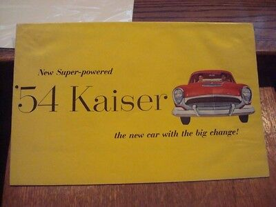 "1954,  ""KAISER"", Dealer Brochure/Pamphlet, EX+ Condition"