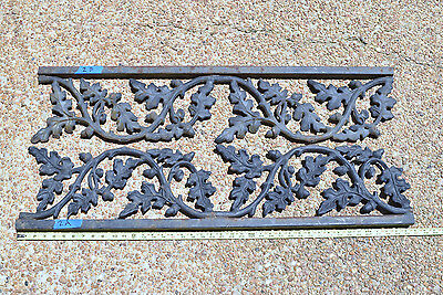 Cast Iron Panels Architectural Salvage Oak Leaf and Acorn Pattern, Lot of 2
