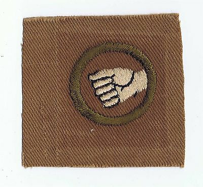 1914-1919 Teens Physical Development Straight Hand Merit Badge AA 1,767 Issued