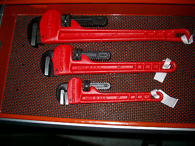 """New 3 Craftsman 51653 51652 51651 Heavy Duty U.s.a. 18"""" 14"""" 10"""" Pipe Wrench"""