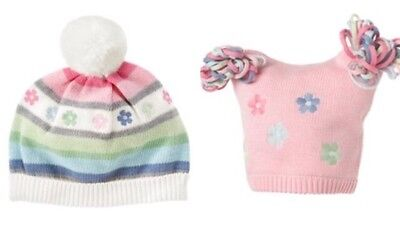 Gymboree Fairy Wishes 0-12 mo 12-24 mo Knit Hats Winter Pink Blue 2011