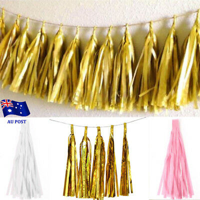 5pcs Tissue Paper Garlands Bunting Tassels Party Wedding Shower Decorations MN