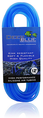 Deep Blue Professional SILICONE AIR TUBING 12 FEET  FREE SHIPPING