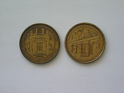 Lot: Delmonico's & Antoine's - 2 Coins from The Great American Restaurant Series