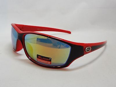 Xloop Sunglasses RED & BLACK Colorful Mirror Lens Unisex Men Sport Fashion New