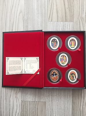 Belarus 2009 Silver Commemorative 5 Coins Set of Alexander Pushkin's Fairy Tales