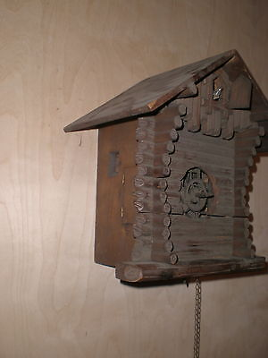 Antique-G.K. Black Forest-Cuckoo Clock/Parts-Ca.1890s-To Restore-#N809