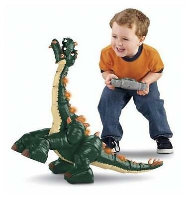 Spike The Ultra Dinosaur Imaginext Fisher Price Remote Control Lights Sounds
