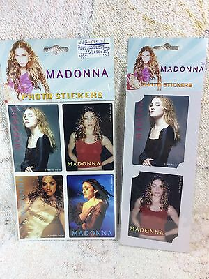 Madonna Stickers 1999 Two Packs Photo Stickers Pop Music Legends