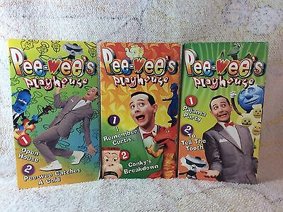 Pee-wee's Playhouse Set Of 3 VHS Video Tapes Untested Box Set