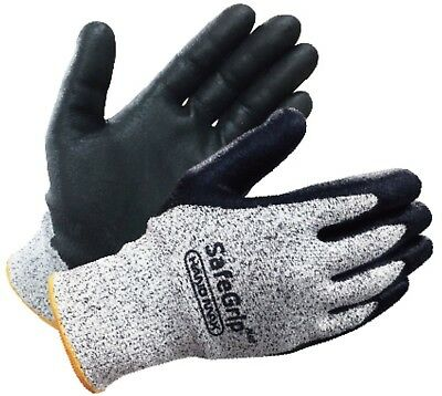 Cut Level 5 HANDMAX SAFEGRIP PLUS resistant Butcher Knit Slash Safety Work Gl...