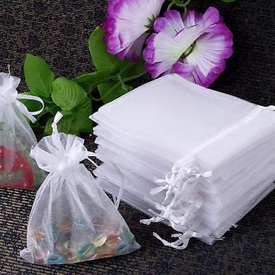 60 X Organza Gift Jewellery Bag Pouch CHIC