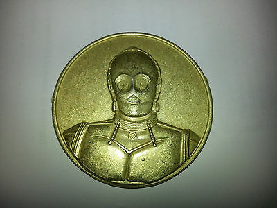 "Star Wars C3PO 1 7/8"""" Diameter Coin!  2005 CA Lottery Limited Edition Promo!"