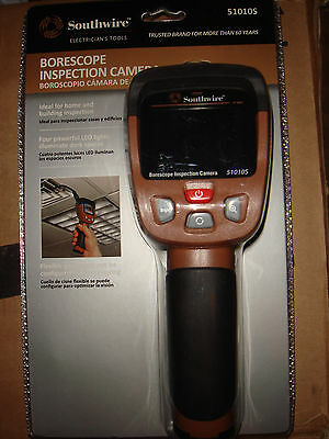 Southwire Digital Fiber Optic Meter Borescope Inspection Camera 51010S-Brand New