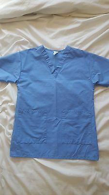 Scrub set, unisex, Medline blue XS solid two pocket New without tag