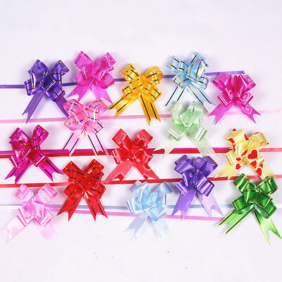 20pcs Gift Wrapping Ribbons Wedding Decoration Packing Pull Bow Flower Supplies