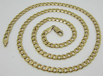 Solid 14Ct Gold Curb Link Necklace/neck Chain