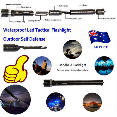 Waterproof Led Tactical Flashlight With Handy Survival Rescue Emergency light MN