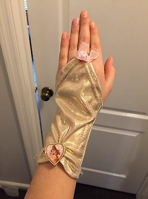 Bell Princess Gold Gloves. Disney Store. One Size.