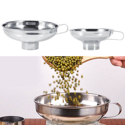 Household Wide Mouth Canning Jar Funnel With Handle Kitchen Tool Stainless Steel