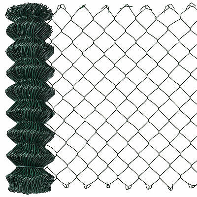 [pro.tec] Chain Link Fence 125cm x 15m Wire Fence Wire Mesh Garden Fencing Game