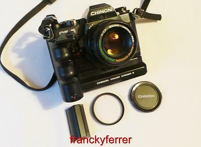 CHINON CE-5 WITH AUTO CHINON MULTI COATED 1:1.7 50mm LENS, POWER WINDER S