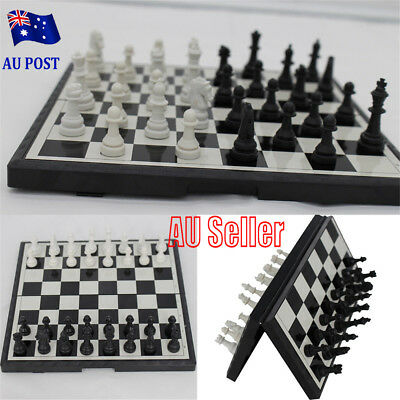 Magnetic Folding Chessboard Chess Board Box Set Portable Kids Game Toy Puzzle MN