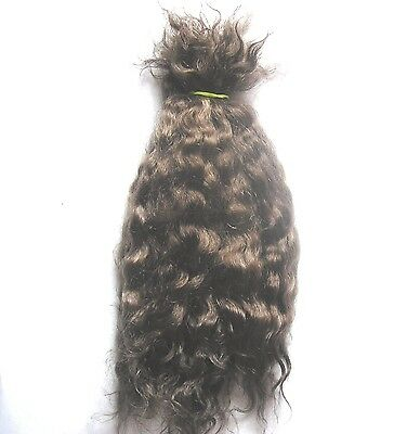 Doll Hair Wig Weft Mohair Blythe Waldorf Puppet Special Effects - Light Brown 7G
