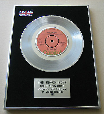 THE BEACH BOYS Good Vibrations PLATINUM Single Presentation Disc