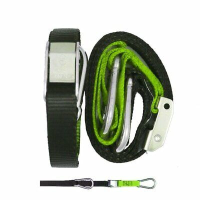 GORILLAS GRIP TIE DOWNS  -  TD3BG   25mm GREEN / BLACK - SNAP HOOK/S HOOK