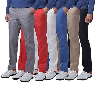 Premium Mens Solid Golf Pants For Men Stretch Tech 5 Pocket Trousers
