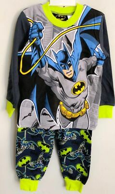 NEW Sz 3~7 PYJAMAS COTTON BATMAN BOYS WINTER SLEEPWEAR PJ KIDS T-SHIRT TOP TEES