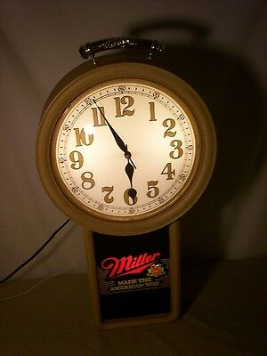 Miller Beer Electric Light up Clock 1986 Working Condition Bar Clock Man Cave