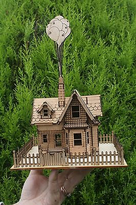 Miniature Laser cut ply wood wooden Model Up House 1.5mm 3d puzzle / Kit