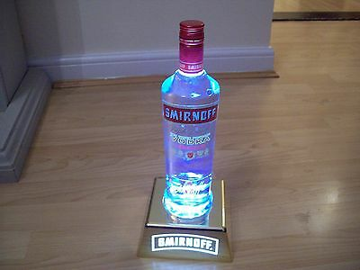 Smirnoff Bottle Uplight HOME PUB/BAR/MANCAVE BRAND NEW RECHARGABLE HARD PLASTIC