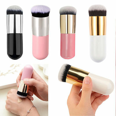 Flat Foundation Face Blush Powder Contour Kabuki Makeup Brush Cosmetic Tool Cute