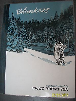 BLANKETS A Graphic Novel By Craig Thompson Softback Paperback Comic Book