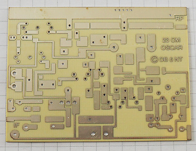 23 cm band upconverter PCB Leiterplatte