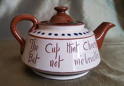 Watcombe Devon Motto Ware Teapot