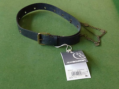 Brand New Jean Bourget Girl's Black Belt - Lenght Incl Buckle = 77Cm - Rrp $56