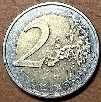 FINLAND 2 Euro coin 2006, with year 2007 wrong map, ERROR RARE.